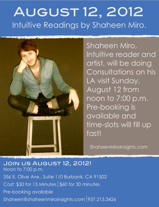 Readings August 12 in Los Angeles