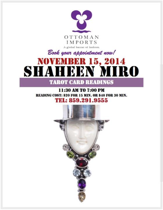 Tarot Readings at Ottoman Imports Covington/Cincinnati 11/15/2014