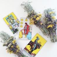 sage bundles and tarot